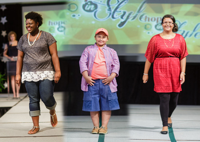 Hope in Style children walked the runway