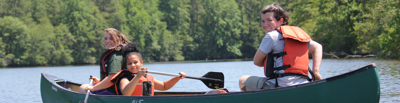 Build team work through canoe trips