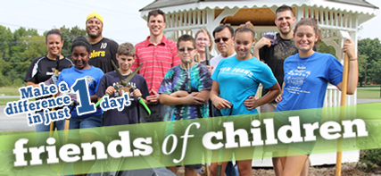 Friends of Children Workday at Odum Home