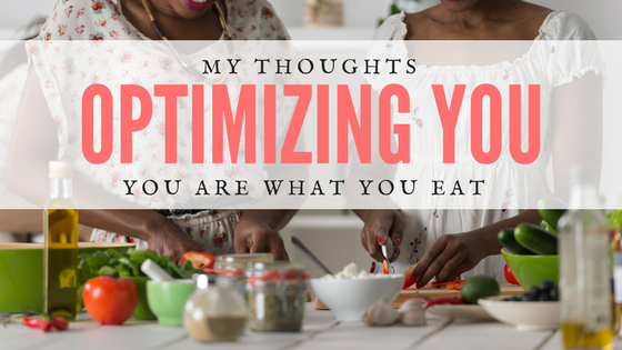 healthy meal - optimizing you through a good diet