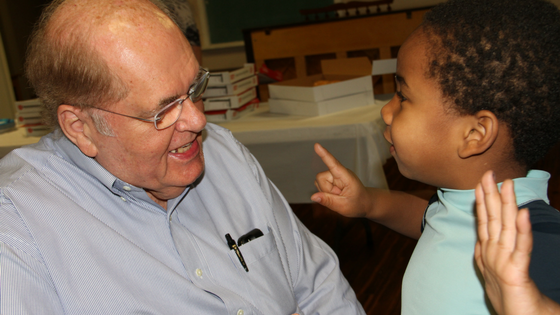 Blackwell spent time with Mills Home staff, children and family care mothers in February.