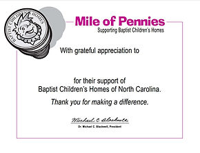 Mile of Pennies Thank you certificate.jp
