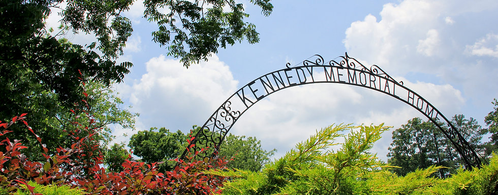 Welcome arch to Kennedy Memorial Home