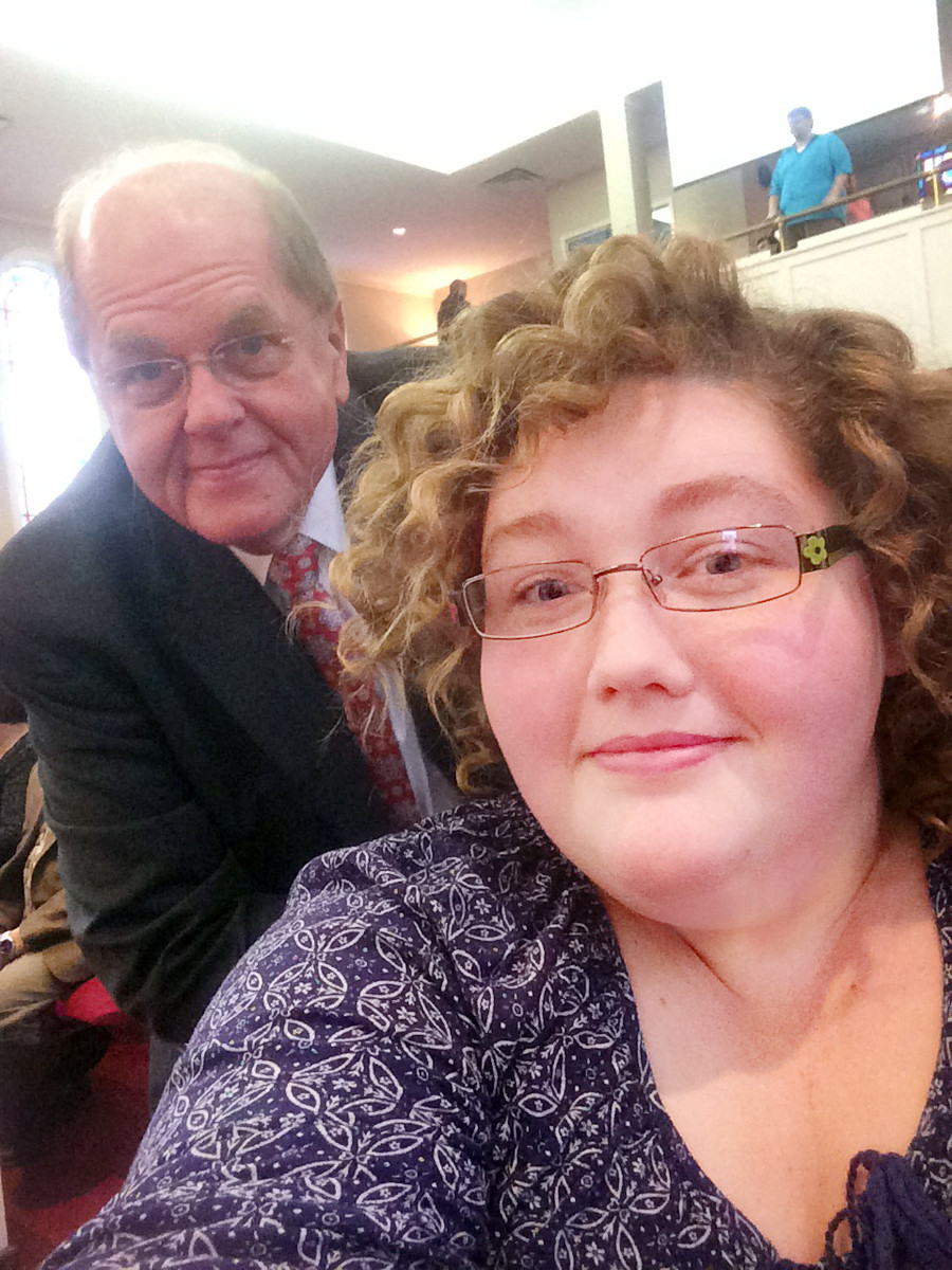 Dr. Michael C. Blackwell and Paige at a church visit