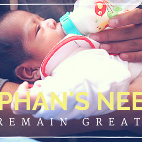 Orphans' needs remain great