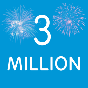 Three million page reads! And an announcement...