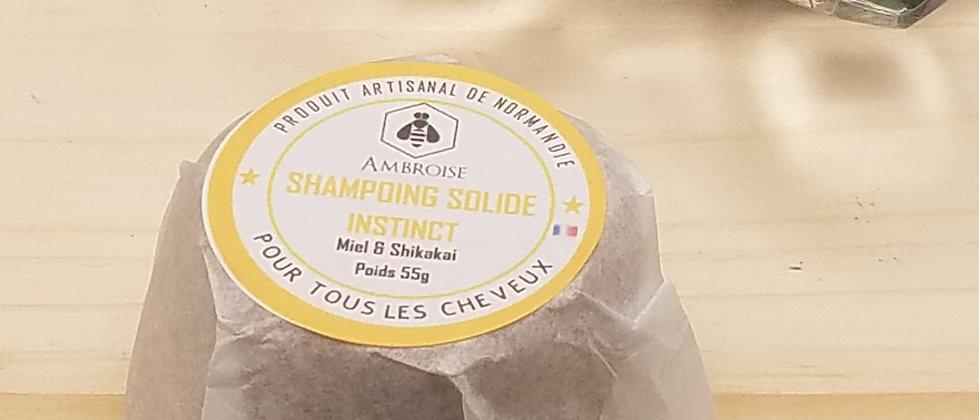 INSTINCT, the solid shampoo with honey and shikakai