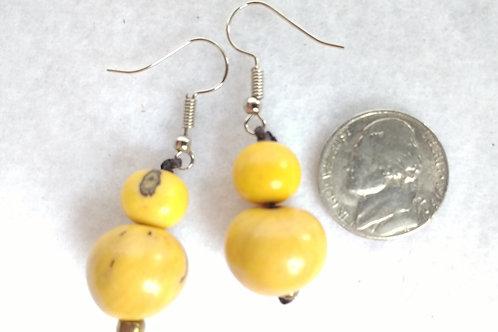 Palm Berry Earrings, Yellow.