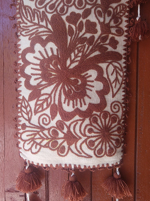 Hand-Embroidered Table Runner