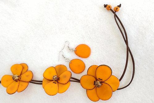 Tagua Flowers Orange