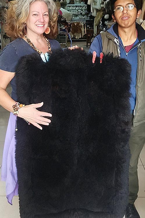 Medium Black Alpaca Rug
