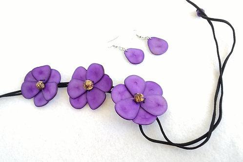 Tagua  flowers purple
