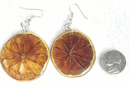 Real Fruit Earrings, Lemon Slices