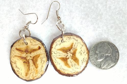 Real Fruit Earrings, Banana Slices