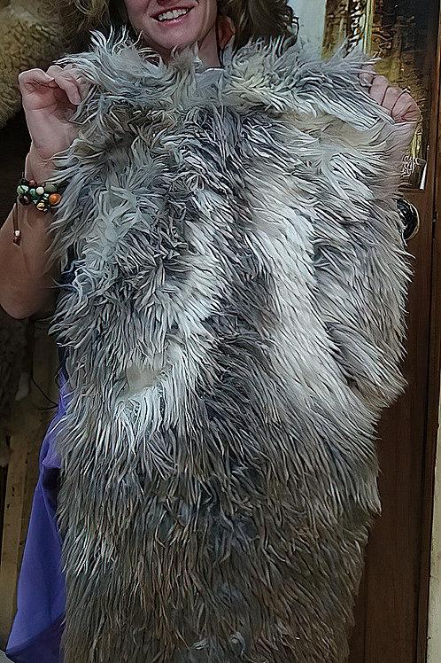 Medium Gray and White Surry Alpaca Rug