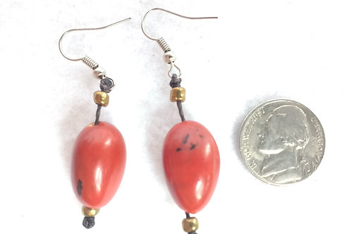 Palm Berry Earrings, Red