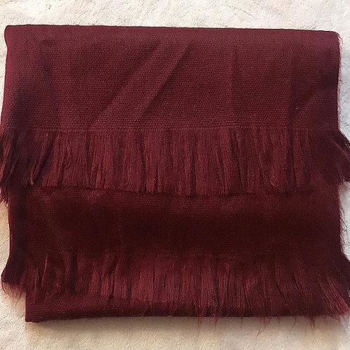 Burgundy Alpaca Blanket Scarf