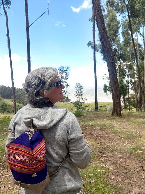 Small Purple Inca Design Backpack