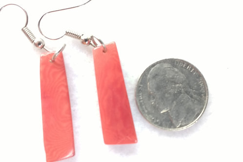 Tagua Earrings, Small, Red