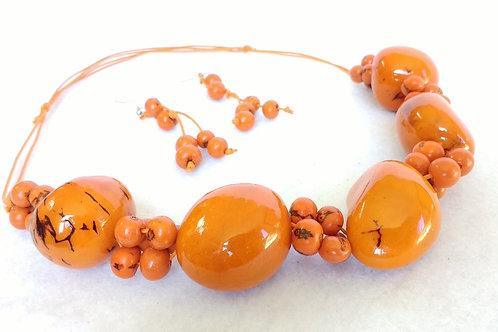 Tagua and Acai short orange