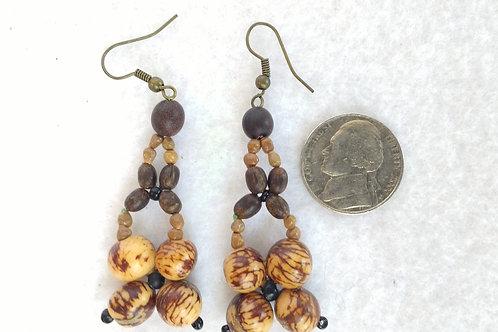 Acai Berry and Seed Earrings