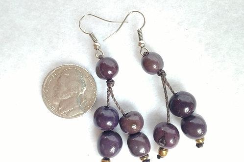 Acai Berry Earrings, Plum