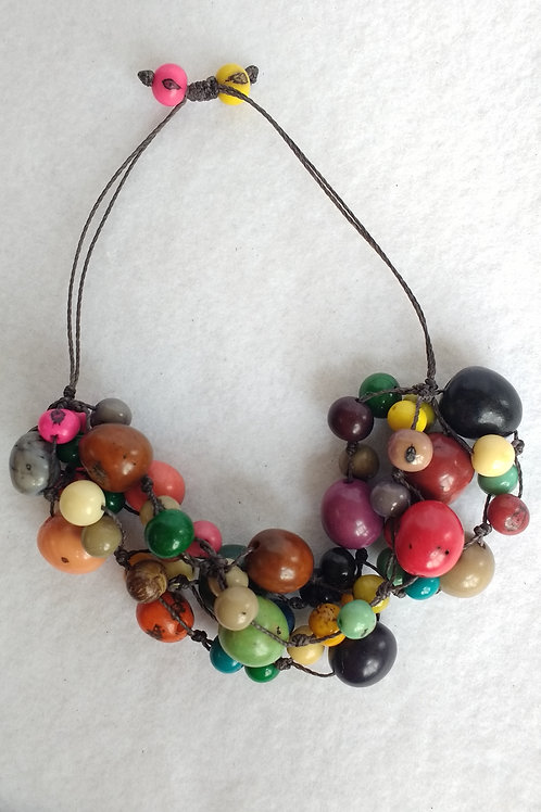 Mulit-strand Palm and Acai Berry Necklace