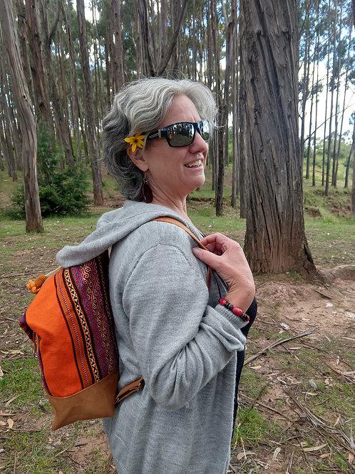 Orange Inca Design Backpack