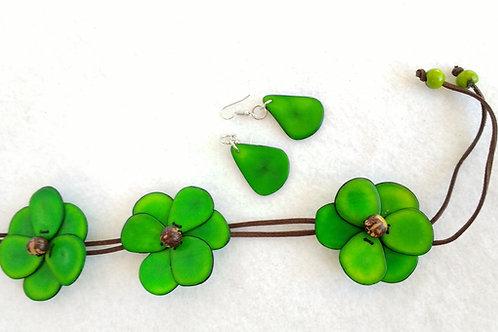 Tagua Flowers green