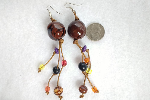 Palm Berry Danglers with Acai Berries, Brown