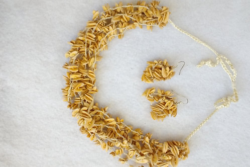 Mellon Seed Necklace and Earring Set