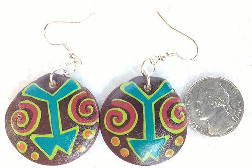 Painted Seed Earrings