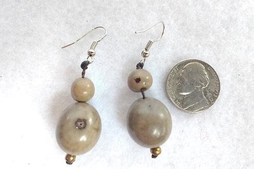 Palm Berry Earrings, Grey