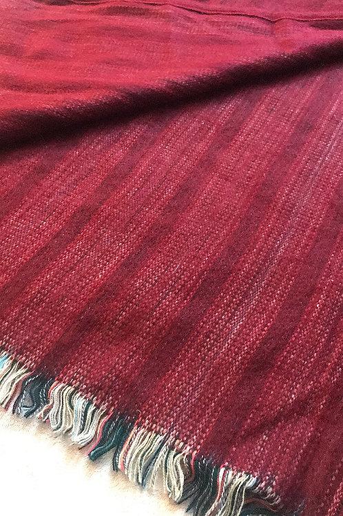 Red Alpaca Blanket Scarf