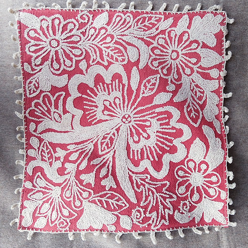 Hand-Embroidered Pillow Sham