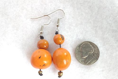 Palm Berry Earrings, Orange