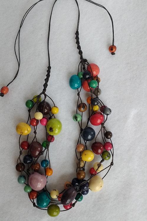 Multi Strand Palm Berry Necklace