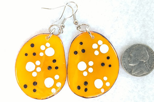 Tagua Earrings, Painted by Beauticians