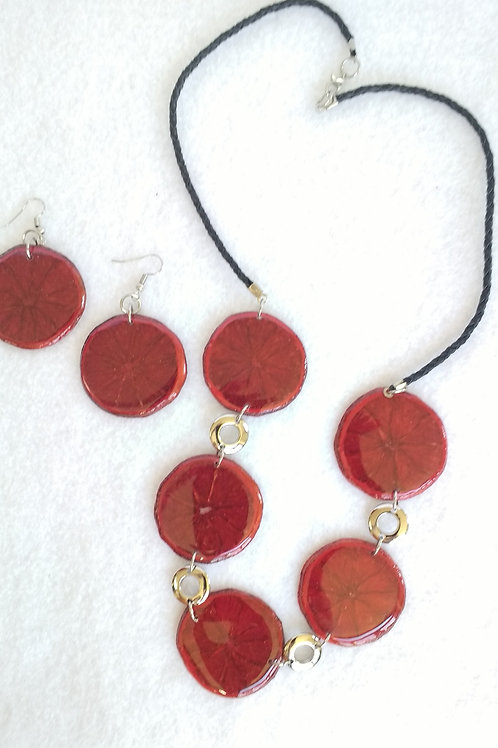 Real Fruit Necklace and Earring Set