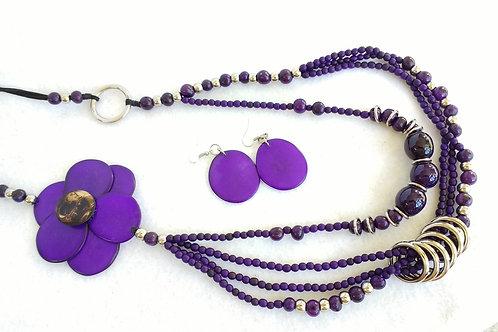 Tagua Long Purple