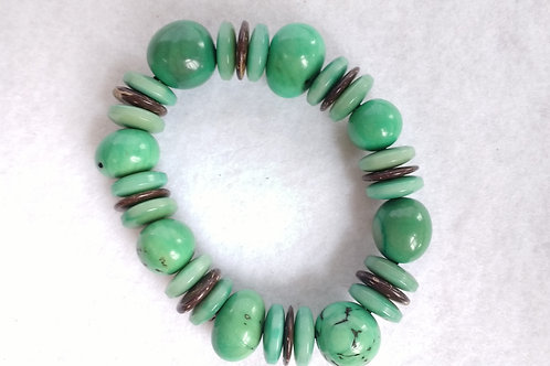 Palm Berry Bracelet with Tagua and Coconut