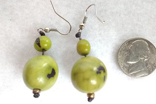 Palm Berry Earrings, Green