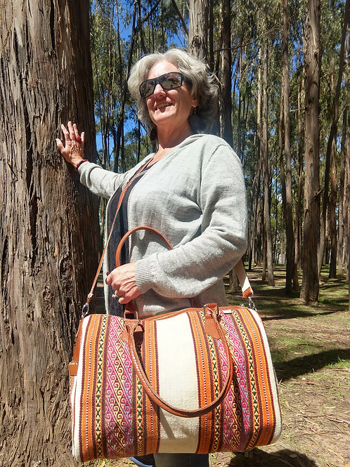 Alpaca/ Wool and  Leather Purse