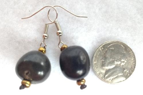 Palm Berry Earrings, Dark Brown
