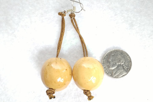 Palm Berry Danglers, White/Natural