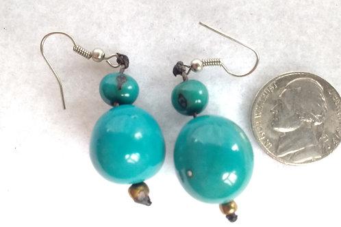 Palm Berry Earrings, Blue