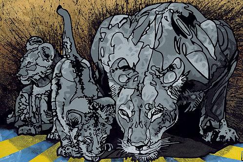 Big Cats Giclée Print