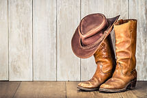 Wild West retro cowboy hat and pair of o