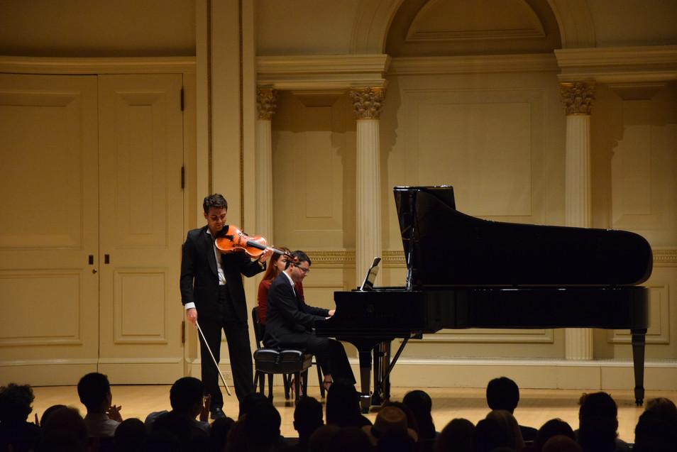 Carnegie Hall Recital 2016, New York City