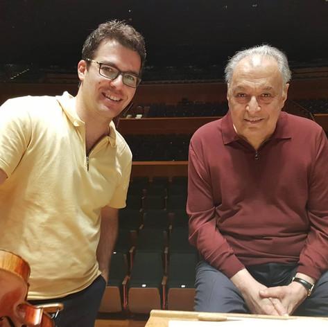 With Zubin Mehta
